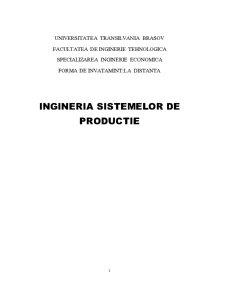 Ingineria Sistemelor de Productie - Pagina 1