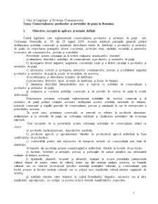 Legislație și Protecția Consumatorului - Pagina 1