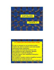 Cataliza - Curs 3 - Pagina 1