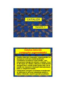 Cataliza - Curs 4 - Pagina 1