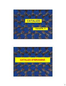 Cataliza - Curs 5 - Pagina 1