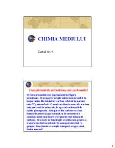 Chimia Mediului - Pagina 1
