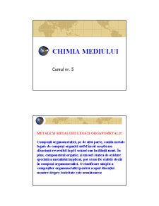 Chimia Mediului - Curs 5 - Pagina 1