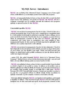 MySQL Server - Pagina 1