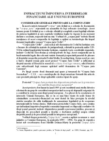 Infracțiuni Împotriva Intereselor Financiare ale Uniunii Europene - Pagina 1