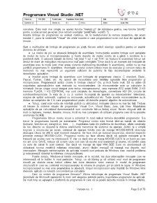 Programare Visual Studio .Net Version 0.1 Final - Pagina 5
