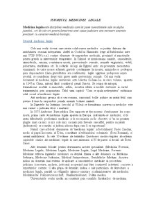 Istoricul Medicinei Legale - Pagina 1