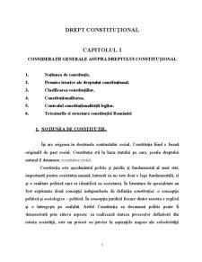 Dreptul Constituțional - Pagina 1