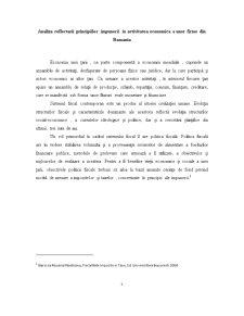 Analiza Reflectarii Principiilor Impunerii in Activitatea Economica a Unor Firme din Romania - Pagina 1
