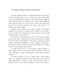 Analiza Reflectarii Principiilor Impunerii in Activitatea Economica a Unor Firme din Romania - Pagina 2
