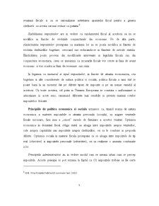 Analiza Reflectarii Principiilor Impunerii in Activitatea Economica a Unor Firme din Romania - Pagina 5
