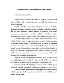 Principiile de Baza ale Administratiei Publice Locale - Pagina 1