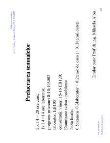Prelucrarea Semnalelor - Pagina 1