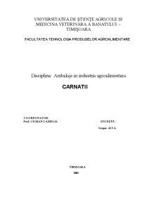 Ambalaje in Industria Agroalimentara - Carnatii - Pagina 1