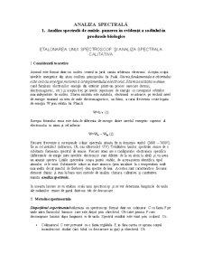 Etalonarea unui Spectroscop și Analiza Spectrala Calitativa - Pagina 1