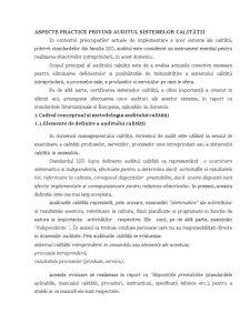 Aspecte Practice Privind Auditul Sistemelor Calității - Pagina 1