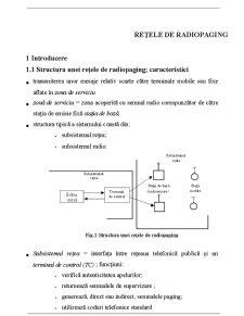 Retele de Radiocomunicatii pentru Acces Selectiv - Pagina 1
