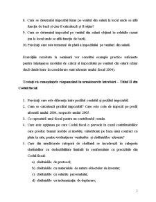 Întrebări și Exerciții Referitoare la Prevederile Codului Fiscal - Pagina 3