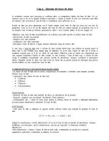 Sisteme de Baze de Date - Pagina 1