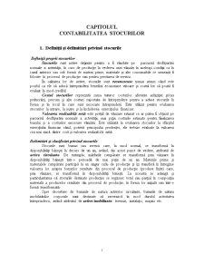 Capitolul Contabilitatea Stocurilor - Pagina 1
