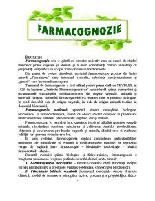 Farmacognozie - Pagina 1