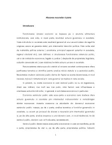 Alocarea Resurselor si Piata - Pagina 1