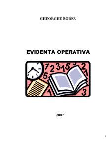 Evidenta Operativa - Pagina 1