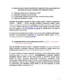 Tehnologia Client-Server in Arhitectura Sistemelor de Baze de Date Modele de Arhitectura - Pagina 3