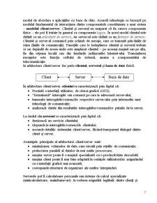Tehnologia Client-Server in Arhitectura Sistemelor de Baze de Date Modele de Arhitectura - Pagina 5