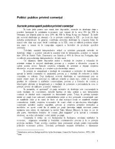Politici Publice privind Comerțul - Pagina 1