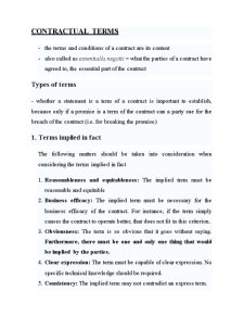 Law of Contract - Pagina 1