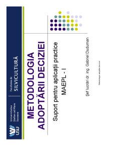 Metodologia Adoptării Deciziei - Pagina 1