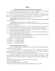 Calitatea si Igiena Produselor Alimentare - Pagina 1