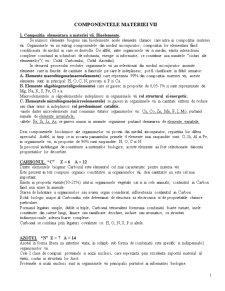 Componentele Materiei Vii - Pagina 1