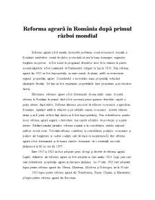 Reforma Agrara in Romania dupa Primul Razboi Mondial - Pagina 2
