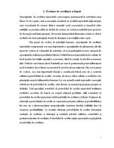 Produse Creditare a Bancii - Pagina 1