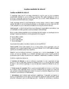 Analiza Mediului de Afaceri - Pagina 1