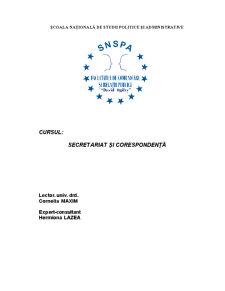 Secretariat și Corespondență - Pagina 1