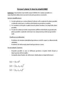 Teoria Elasticitatii - Pagina 1
