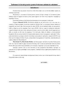 Îndrumar de Lucrări Practice pentru Proiectare Asistată de Calculator - Pagina 2