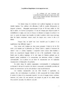 La Politesse Linguistique Et Son Rapport au Sexe - Pagina 1