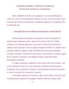 Scurta Sinteza asupra Controlului Fiscal in Romania - Pagina 1