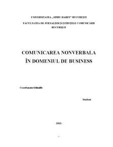 Comunicarea Nonverbala în Domeniul de Business - Pagina 1