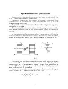 Aparate Electrodinamice și Ferodinamice - Pagina 1