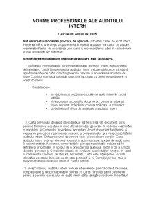 Norme Profesionale ale Auditului Intern - Pagina 1