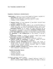 Operatiuni si Institutii de Credit - Pagina 1