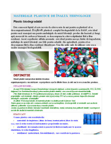 Materiale Plastice de Înaltă Tehnologie - Pagina 1