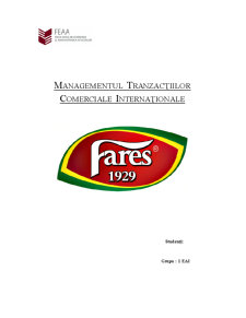 Managementul Tranzacțiilor Comerciale Internaționale - Pagina 1