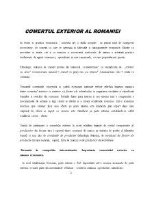 Comertul Exterior al Romaniei - Pagina 1