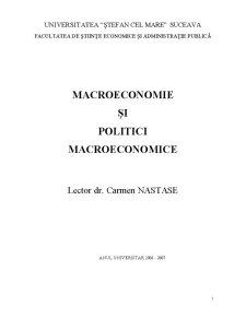 Macroeconomie și Politici Macroeconomice - Pagina 1